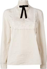 Embroidered Lace Blouse Women Cotton 42, Women's, Nudeneutrals