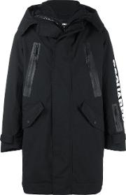 Ski Technical Down Parka Men Feather Downpolyamidepolyester 44, Black
