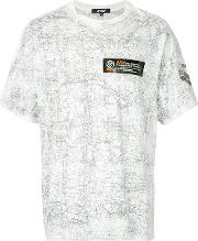 Printed T Shirt With Logo Patch