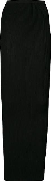 Fitted Skirt Women Viscose S, Black