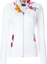 Floral Hooded Track Top
