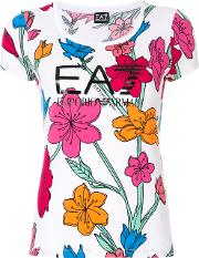 Floral Scoop T Shirt