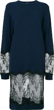 Each X Other Other Lace Detail Sweater Dress Women Cashmerewool S, Blue