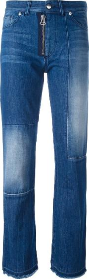Each X Other Other Patchwork Straight Leg Jeans Women Cotton 25, Blue