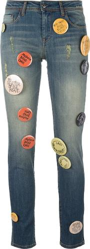 Each X Other Other Pin Buttons Embellished Jeans Women Cottonspandexelastane 29, Blue
