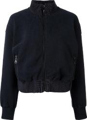 Other Cropped Zip Up Cardigan Women Cotton L, Women's, Black