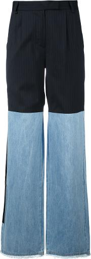 Other Hybrid Wide Leg Jeans Women Cottonpolyester Xs, Blue