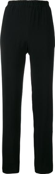 Other Side Band Trousers Women Acetateviscose S, Black