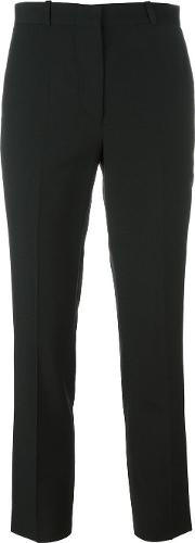 Other Slim Fit Tailored Trousers Women Polyesterwoolacetateviscose Xs, Black
