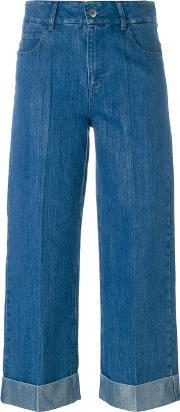 Other Wide Leg Cropped Jeans Women Cotton 28, Women's, Blue