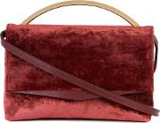 Top Handle Tote Women Calf Leathervelvet One Size, Red