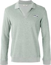 Editions M.r Terry Knit Polo Shirt Men Cotton S, Green