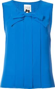 Bow Front Sleeveless Blouse
