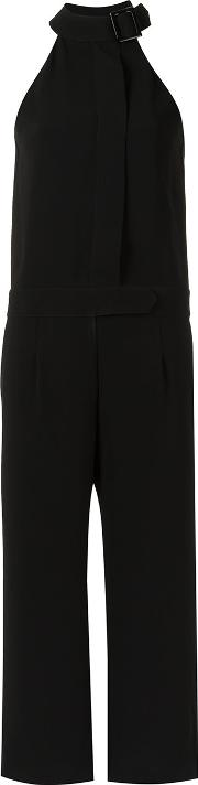 Cropped Jumpsuit Women Polyester 40, Black