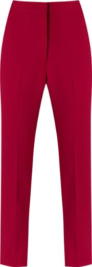 Cropped Trousers Women Polyesterspandexelastaneviscose 34, Red