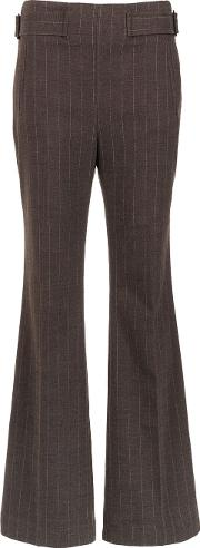 Pinstripe Flared Trousers