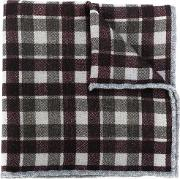 Checked Scarf Men Wool One Size, Green