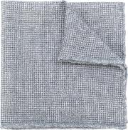 Checked Scarf Men Wool One Size, Grey