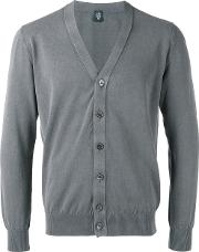Eleventy V Neck Cardigan Men Cotton Xl, Grey