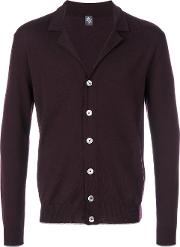 Eleventy V Neck Cardigan Men Virgin Wool M, Red