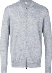 Eleventy Zip Up Cardigan Men Silkmerino L, Grey