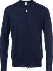 Eleventy Zip Up Cardigan Men Silkmerino S, Blue