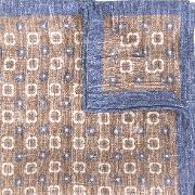 Printed Linen Scarf Men Linenflax One Size, Grey