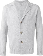 Ribbed Collar Cardigan Men Cashmere Xxl, Grey