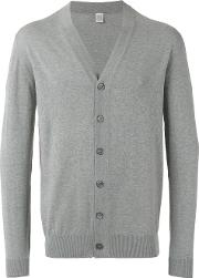 V Neck Buttoned Cardigan Men Cotton Xxl, Grey