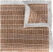 Woven Linen Scarf Men Linenflax One Size, Brown