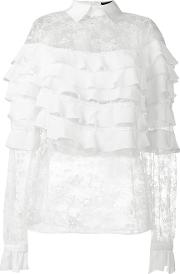 Lace Tiered Blouse Women Silknylonpolyester 36
