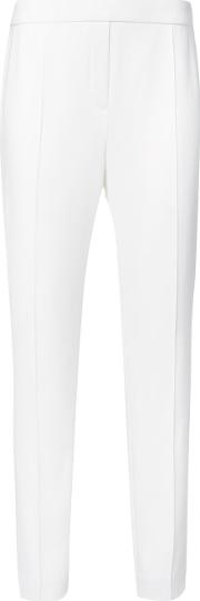 High Waisted Trousers Women Polyesterspandexelastanetriacetate 12, White