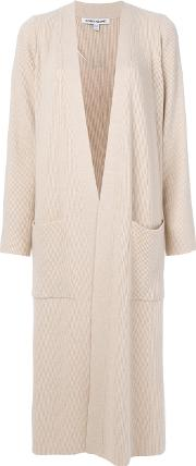 Elizabeth And James Long Cardigan Women Nylonspandexelastaneviscosewool M, Nudeneutrals
