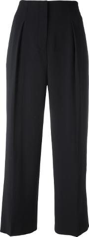 High Waisted Trousers Women Polyesterpolyurethanespandexelastane 4, Black