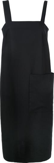 Apron Dress Women Cotton 38, Black