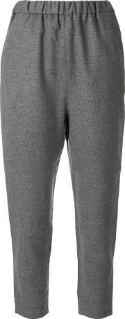 Enfold Elastic Waistband Cropped Trousers