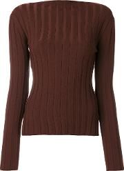 Enfold Ribbed Jumper Women Nylonspandexelastanewool 38, Brown