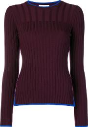 Enfold Ribbed Round Neck Jumper