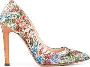 Floral Pattern Pumps Women Leatherpolyester 36