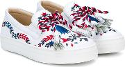 Embroidered Rope Sneakers