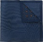 Ermenegildo Zegna Patchwork Square Scarf Men Silk One Size, Blue