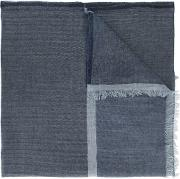 Frayed Scarf Men Cottoncashmere One Size, Blue