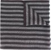 Striped Scarf Men Silkcashmereinox One Size