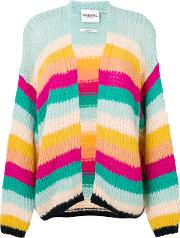 Essentiel Antwerp Knit Rainbow Striped Cardigan Women Acrylicpolyamidemohair S