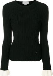 Ribbed Flared Cuff Sweater