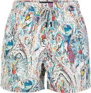Abstract Patterned Swim Shorts