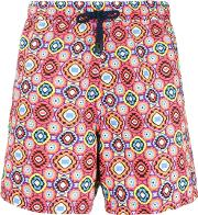 Geometrical Print Swim Shorts