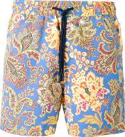 Paisley Print Swim Shorts Men Nylon M