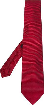 Striped Tie Men Silk One Size, Red