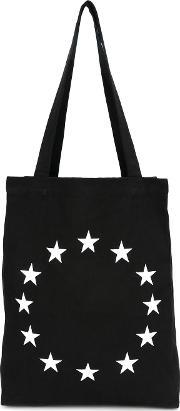 Embroidered Star Tote Men Cotton One Size